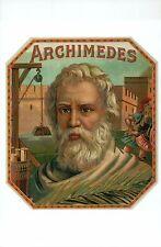 Archimedes, Mathematician of Ancient Greece, Cigar Box Image --- Modern Postcard