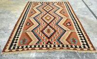 Afghan Handmade Kilim Flatweave Rug Oriental Tribal Floor Wool Kilim Rug 9x6