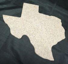TEXAS Shape Beige Dark Flecks Granite-like Cutting Cheese Board Trivet Platter