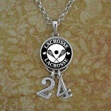 Lacrosse Number Necklace/ custom