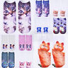 Summer Unisex Casual Women Catoon Low Cut Soft Ankle Socks Cotton 3D Animals Cat