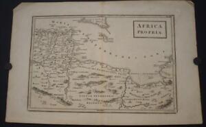 TUNISIA LIBYA EASTERN ALGERIA 1720 CELLARIUS & TOMS ANTIQUE COPPER ENGRAVED MAP