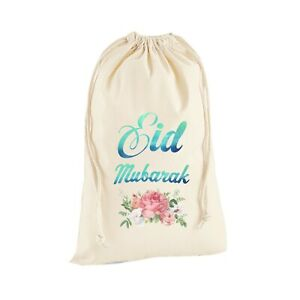 Happy Eid Mubarak Ramadan Sack Bag Islamic Treat Lolly Gift Stocking Gift