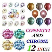 "CHROME BALLOONS METALLIC LATEX PEARL 10"" Baloon Birthday Party Arch kit 50 balon"