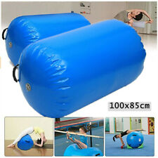 39''x33'' Inflatable Gymnastics Gym Air Barrel Mat Track Yoga Roller Cylinder