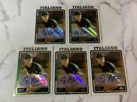 Craig Italiano Autograph Rookie 5 Card Lot 2005 Topps Chrome RC Auto Card #UH231