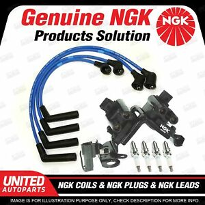 NGK Spark Plugs Coils Leads Kit for Hyundai Getz TB 1.3L 4Cyl 2003-2005
