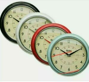 Chunky Retro Vintage Round Wall Clock Kitchen Diner Room Home Decoration Gift