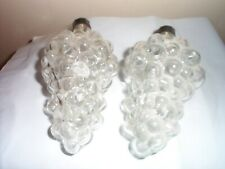 VINTAGE - GLASS GRAPES CLUSTER - SET OF 2!!