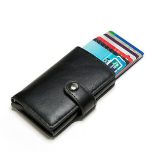 Men Slim Wallet RFID Blocking Leather Money Clip Credit Card ID Holder Purse