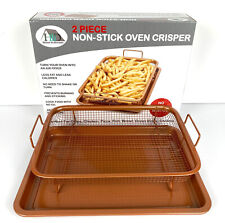 Crisping Tray Non-Stick Oven, Mesh Baking Tray Chips Basket / & Recipe Book
