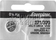 Energizer 371 / 370 Watch Batteries SR920W SR920SW 0% Hg ( 1 PC )