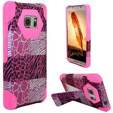 For Samsung Galaxy Note 5 Design Hybrid Kickstand - Pink Exotic Skins+Hot Pink