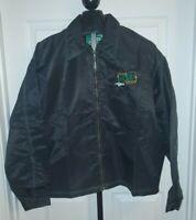 Vintage Kool Green TKG Gear Tracy Indy Racing Men's L Zip Up Jacket 90