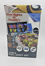 Five Nights at Freddy's Microfiber Full Size 4 Piece Sheet Set NEW SEALED