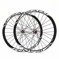 29er 33mm Carbon Mountain Bike Wheels Powerway M42 Red Hub with Sticker UD 28H