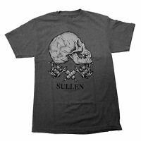Sullen Men's Crossbones Short Sleeve T Shirt Charcoal Heather Gray Clothing A...