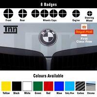 Black Carbon Chrome BMW e90 92 M3 M5 Badge Emblem Overlay Sticker Vinyl Skin