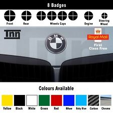 Black Carbon Chrome BMW e90 92 M3 M5 Badge Emblem Overlay Sticker Vinyl Skin