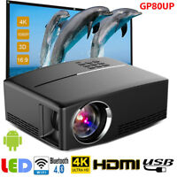 Multimedia HD WiFi Android Bluetooth 3D LED Home Cinema Projector 3000 Lumens