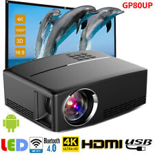 Multimedia HD WiFi Android Bluetooth 3D LED Home Cinema Projector 7000 Lumens