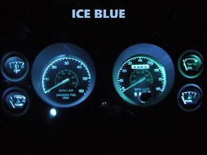 Gauge Cluster LED Dashboard Bulbs Ice Blue For Ford  79 86 Mustang Speedometer