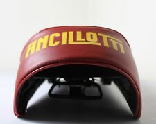 LAMBRETTA ANCILLOTTI SEAT IN RED WITH YELLOW LOGO CUT BACK WITH CATCH