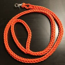 Paracord Dog Leash 5' FEET Finger Square Knit 550 USA Custom Colors! TJPARACORD