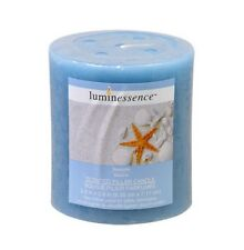1-PACK Luminessence Seaside Marine Scented Pillar Candle Relaxing Atmosphere 7oz
