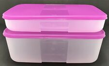 Tupperware Freezer Mates Set of 2 Shallow + Deep Medium Purple New