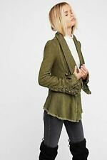 Free People Throwback Jacket/Cost Military Green ~Bell Sleeve  XS NWT