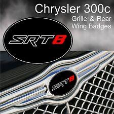 Chrysler 300c SRT8 Grille & Rear Wing Badge Emblems