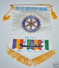 WOW Vintage Busan Korea's Port Of Entry Rotary International Club Banner Signed?