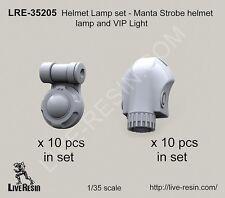 """Live Resin 1/35 #35205 Helmet Lamp Set """"Manta Strobe Helmet Lamp and VIP Light"""""""