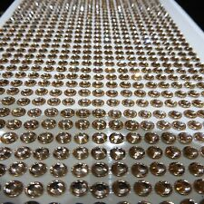 qty 1000 4MM SELF ADHESIVE STICK ON DIAMONTE BRONZE CRYSTAL RHINESTONE DIAMANTES
