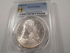 1899-O Morgan Silver Dollar PCGS Gold Shield MS 66 Blast White with Nice Luster