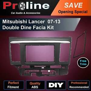 Mitsubishi Lancer stereo Radio double 2 Din fascia dash panel facia kit trim AU