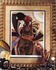 "African American Black Art Giclee ""DE FLUTE AFRIQUE"" by Lester Kerns"