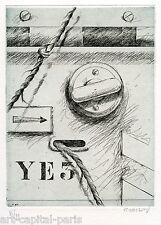 KLASEN PETER GRAVURE ORIGINALE SIGNÉ AU CRAYON NUM/99 HANDSIGNED NUMB/99 ETCHING