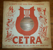 COPERTINE d'EPOCA per DISCHI 78 GIRI cm. 25 da GRAMMOFONO - raccoglitori