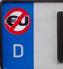 2x Anti-EU Kennzeichenaufkleber (Aufkleber,Gegen Merkel,AfD,Autoaufkleber)