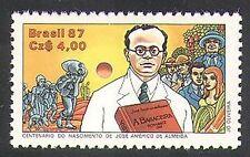 Brésil 1987 ALMEIDA/écrivain/écriture/Littérature/Livres/Cactus/fruits 1 V (n38139)
