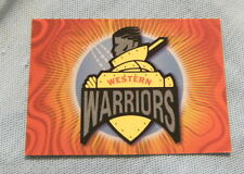 WESTERN AUSTRALIAN WARRIORS  TOPPS  ACB GOLD CRICKET CARDS