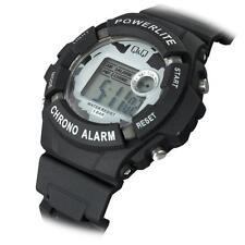 NEW Q&Q Men Backlight Chronograph Stopwatch Digital Sport Watch M051J001Y $59