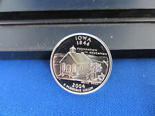 2004-S Iowa Silver Quarter Deep Cameo Mirror Proof Taken from a 2004 Proof Set