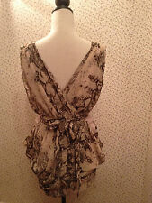 H&M Christmas Collection Snake Skin Effect Floaty Tulip Parachute Dress 8. BNWT