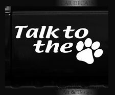 FUNNY KITTY CAT DOG PUPPY PAWS PRINTS VINYL DECAL STICKER CAR WINDOW LETTERING