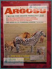 ARGOSY January 1966 BERNHARD GRZIMEK BRETT HALLIDAY +++