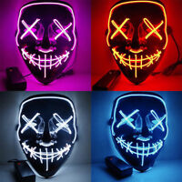 """Clubbing Light Up """"Stitches"""" LED Mask Costume Halloween Rave Cosplay Party Xmas"""