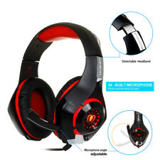 Beexcellent Stereo Bass Surround Gaming Headset for PS4 New Xbox One PC Mic RED